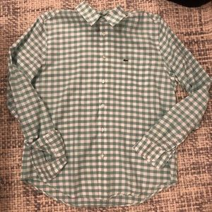 Lacoste Green Checkered Button Down